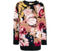 Oversized-Pullover mit Intarsienmuster