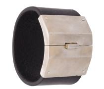 'Box Lock' Armreif mit Silberdetail