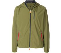 contrast hood jacket