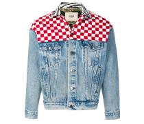 Jeansjacke mit Schachbrettmuster