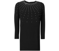 stud embellished mini dress