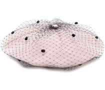 Baskenmütze mit Netz-Overlay