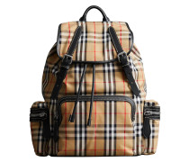 The Large Rucksack in Vintage Check and Leather