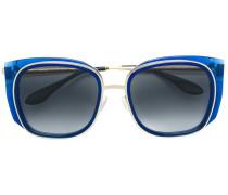 Runde Sonnenbrille mit doppeltem Gestell
