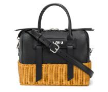 Handtasche in Flechtoptik