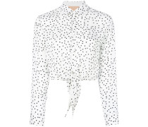knotted polka dot shirt