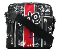 Graffiti print shoulder bag