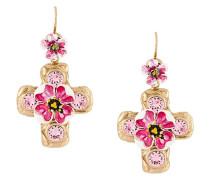 Ohrringe mit verziertem Kreuz