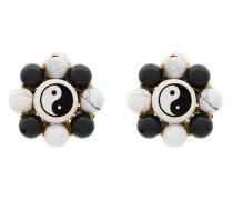 Flower Ying Yang Earrings