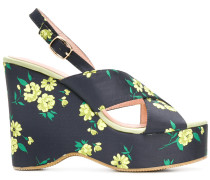 Pesteban floral platform sandals