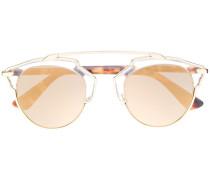 Cat-Eye-Sonnenbrille mit farbigen Gläsern