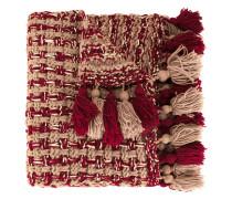 Schal mit Bommeln