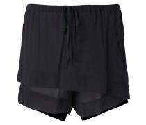 sheer layered front shorts