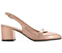 Slingback-Pumps mit Blockabsatz