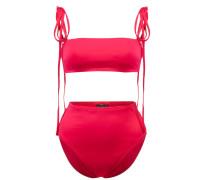 Bandeau-Bikini mit Schleifendetail