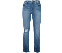 Jeans mit aufgerautem Saum