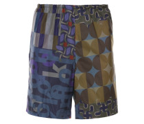 Shorts im Patchwork-Design