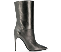pointed mid-calf boots