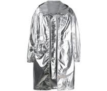 Metallic-Regenmantel im Oversized-Look