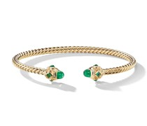 18kt yellow gold Renaissance emerald cuff
