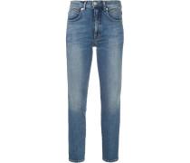 Skinny-Jeans mit Logo-Patch