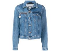 Jeansjacke mit Nummern-Schild