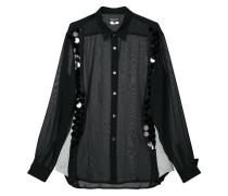 sequin embellished sheer shirt
