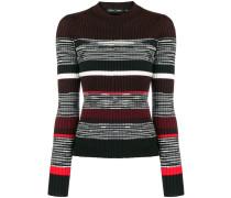 Gerippter Pullover mit rundem Ausschnitt