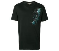 T-Shirt mit Schlangen-Applikation