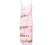 Ärmelloses Kleid mit Batikmuster