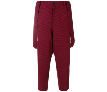 suspender cropped trousers