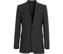 Slim Fit Prince of Wales Check Wool Silk Suit