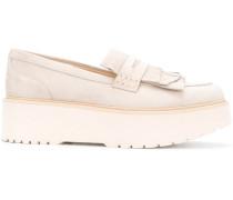 Flatform-Loafer aus Wildleder