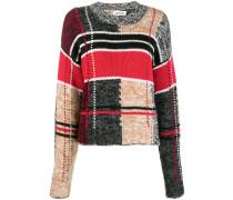 patchwork knit jumper