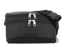 A.P.C. double zipped belt bag
