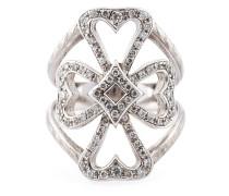 Diamantring mit Malteserkreuz