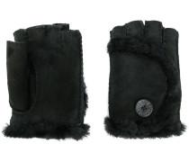 shearling finger-less gloves