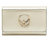 Metallic-Portemonnaie mit Kette