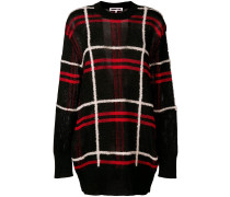 Karierter Oversized-Pullover