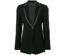 tailored V-neck blazer
