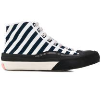 Gestreifte Canvas-Sneakers