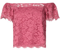 off-shoulder lace crop top