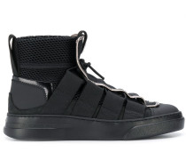 High-Top-Sneakers mit Netzeinsatz