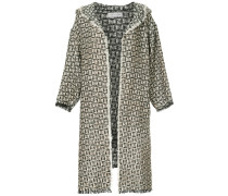 Lange Tweed-Jacke