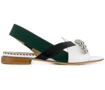 asymmetric sling-back sandals