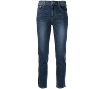 Back Contrast cropped jeans
