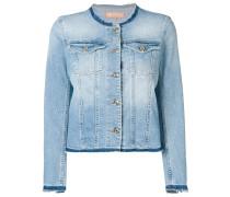 Jeansjacke mit rundem Ausschnitt