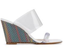 Wedge-Sandalen mit Webmuster