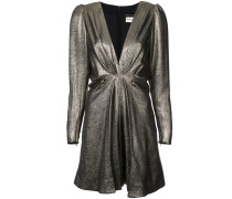 V-neck metallic dress