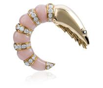 Gold diamond shrimp earring